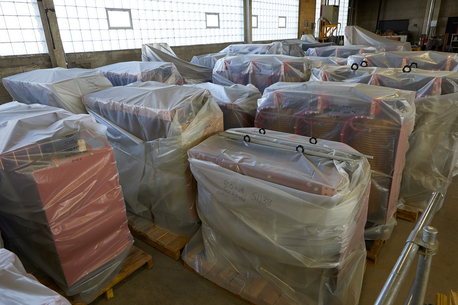 Dry Type Transformers ready to be shipped.